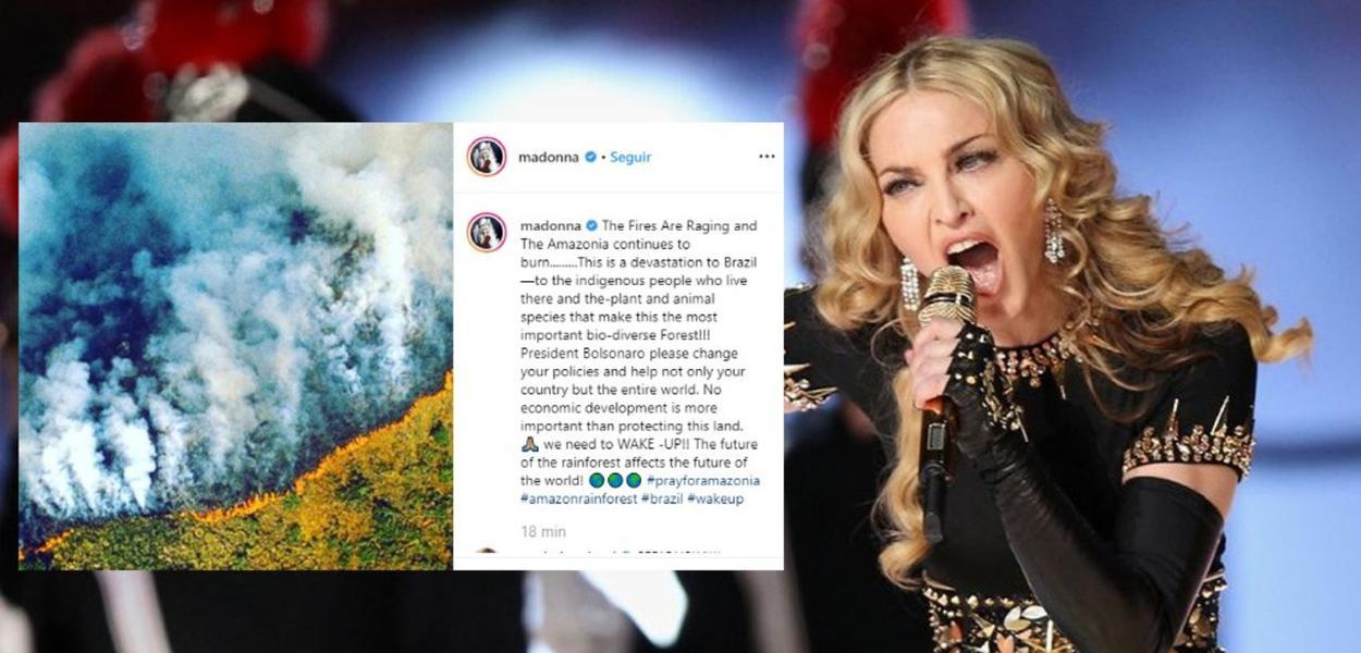 Madonna vai ao Instagram defender a Amazônia