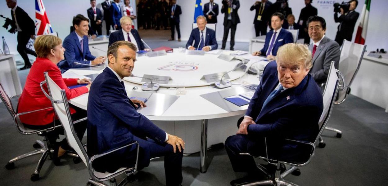 A última cúpula do G7 foi realizada na França, em agosto de 2019