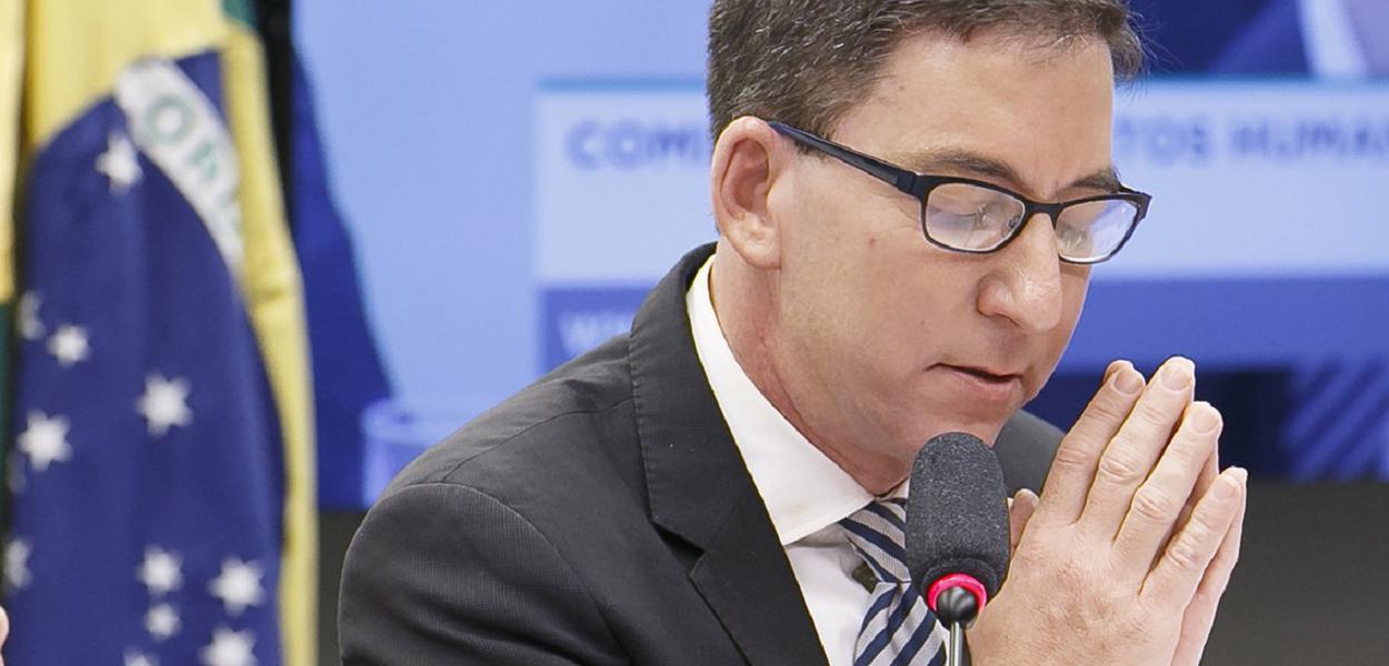 Brasilia DF 25 06 2019 -Jornalista fundador do jornal The Intercept, Glenn Greenwald em audiência pública na Câmara dos Deputados foto Gustavo Bezerra
