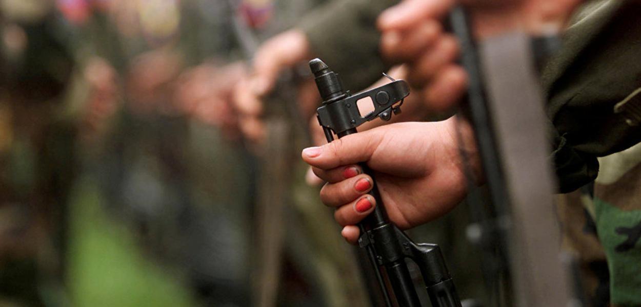 Soldados das Forças Armadas Revolucionárias da Colômbia (FARC).