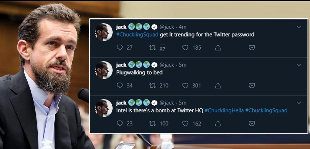 Jack Dorsey, CEO do Twitter, teve sua conta hackeada.