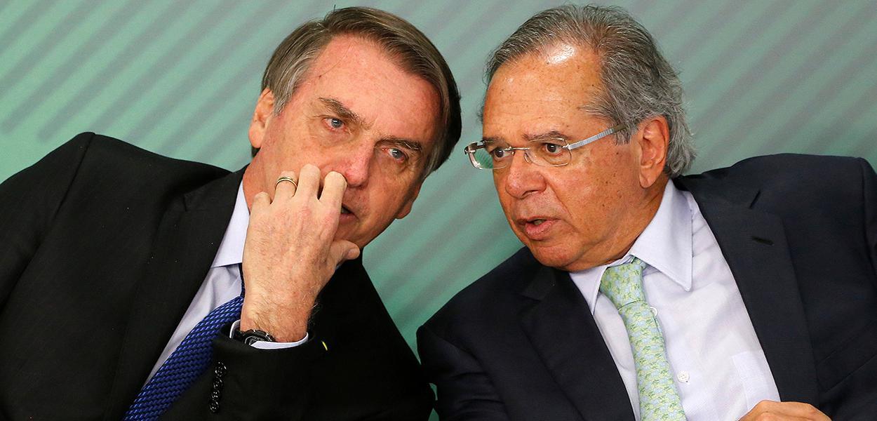 Jair Bolsonaro e ministro da Economia, Paulo Guedes