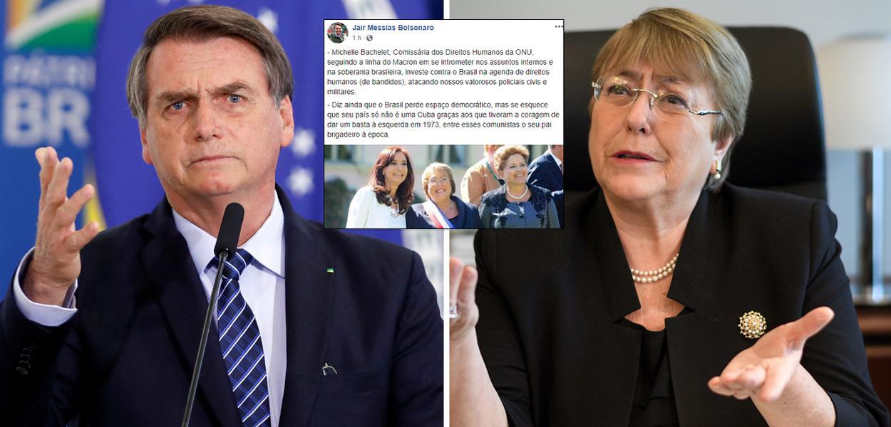 Jair Bolsonaro ataca pai de Michelle Bachelet