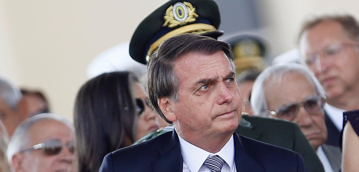 Jair Bolsonaro durante cerimônia em Brasília 23/08/2019