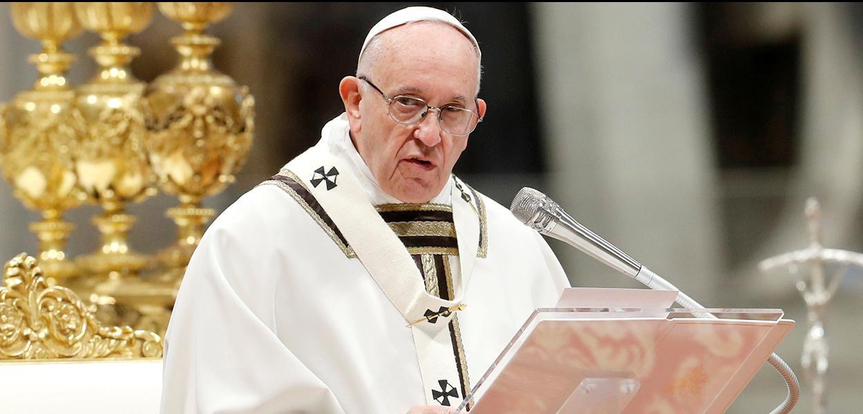 Papa Francisco celebra missa do Dia Mundial dos Pobres da Igreja Católica Romana, Vaticano.