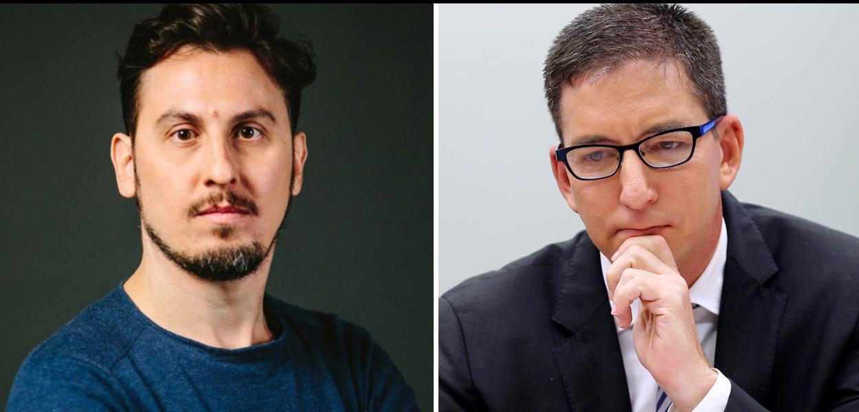 Jornalistas Leandro Demori e Glenn Greenwald, do Intercept Brasil.