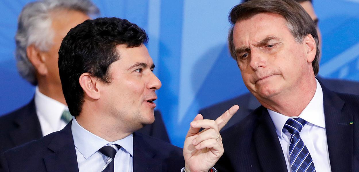 Jair Bolsonaro e ministro Sergio Moro