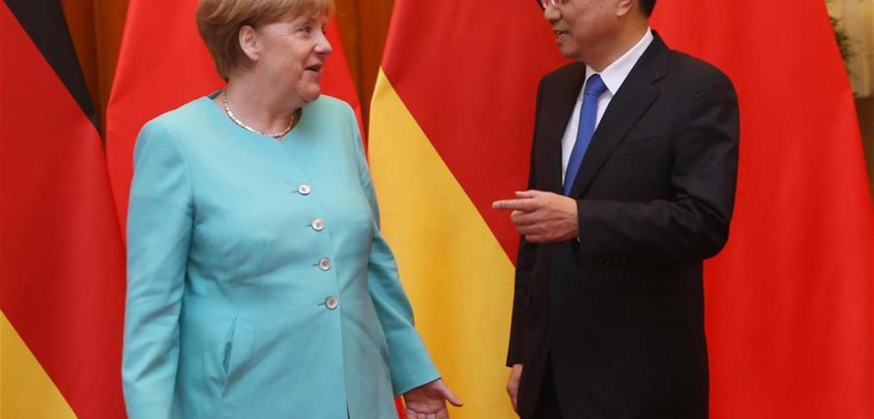 Angela Merkel e Li Keqiang
