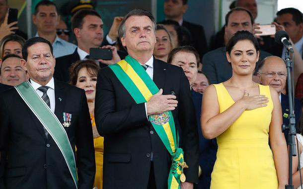 Jair Bolsonaro durante desfile cívico por ocasião do Dia da Pátria