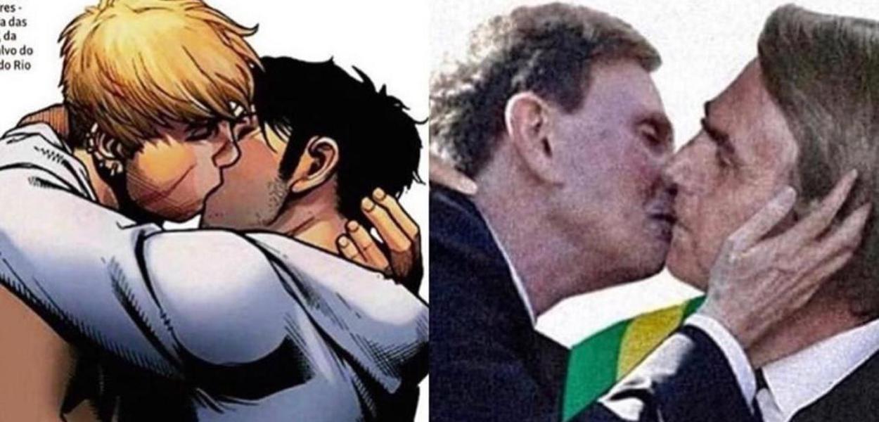 Em publicação de Thiago Lacerda, Crivella beija Bolsonaro - Brasil 247