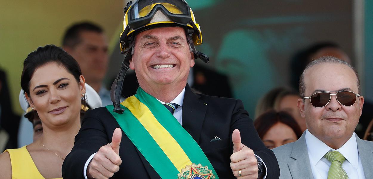 Jair Bolsonaro, durante desfile Cívico por ocasião do Dia da Pátria