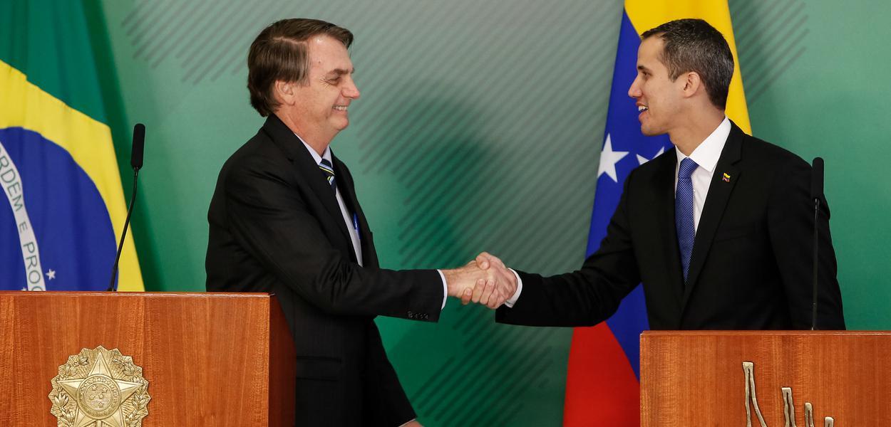 (Brasília - DF, 28/02/2019 ) Jair Bolsonaro e Juan Guaido.