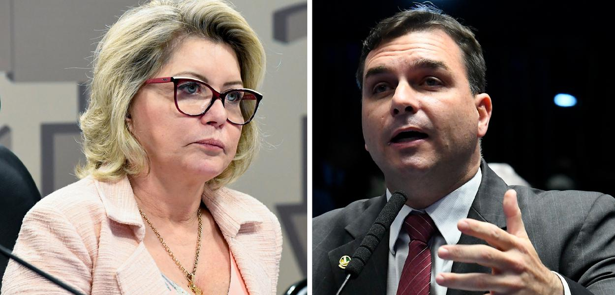 Juíza Selma e Flávio Bolsonaro