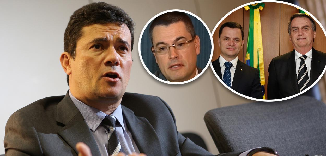 Da esquerda para direita: Sergio Moro, Maurício Valeixo, Anderson Torres e Jair Bolsonaro