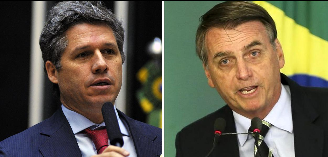 Paulo Teixeira e Jair Bolsonaro