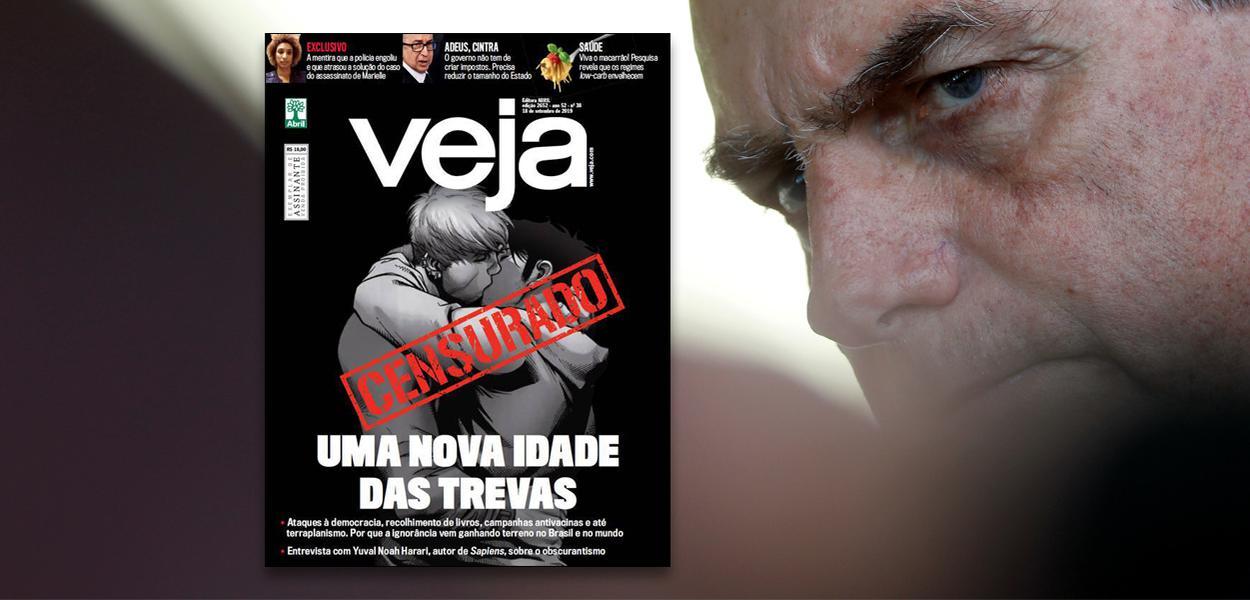 Capa da revista Veja e Jair Bolsonaro