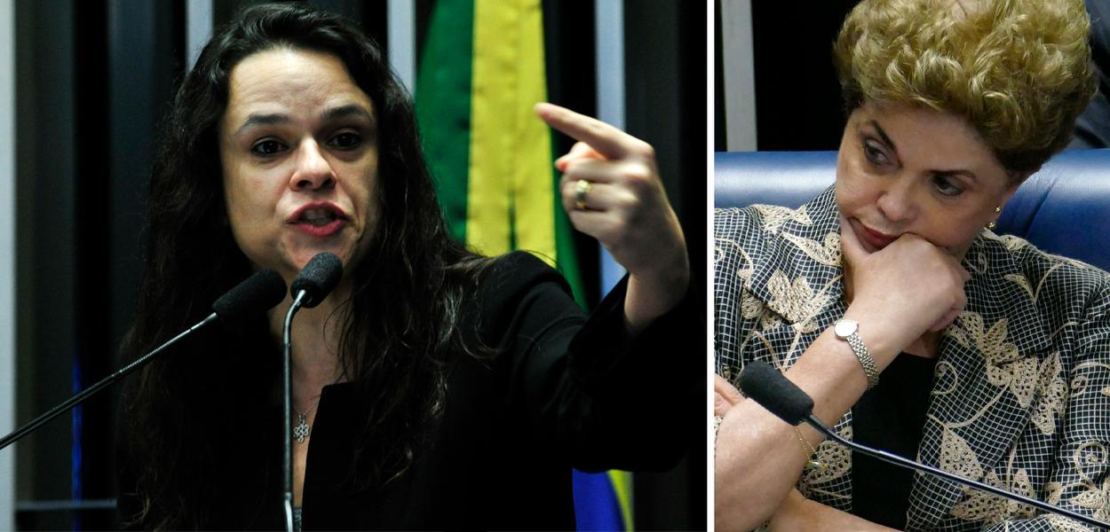 Janaína Paschoal e Dilma Rousseff