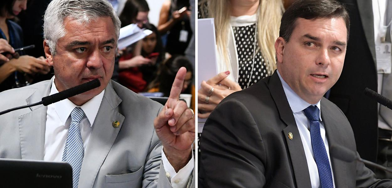 Major Olímpio e Flávio Bolsonaro
