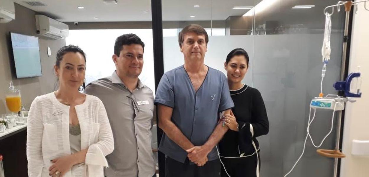 Moro visita Bolsonaro no hospital