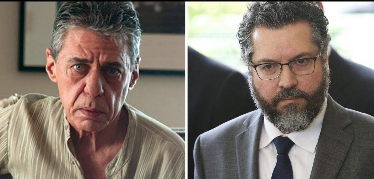 Chico Buarque e Ernesto Araújo