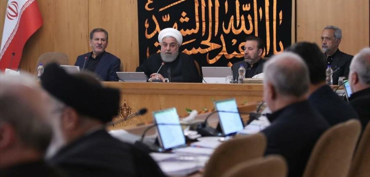 Hasan Rohani reúne o ministério iraniano