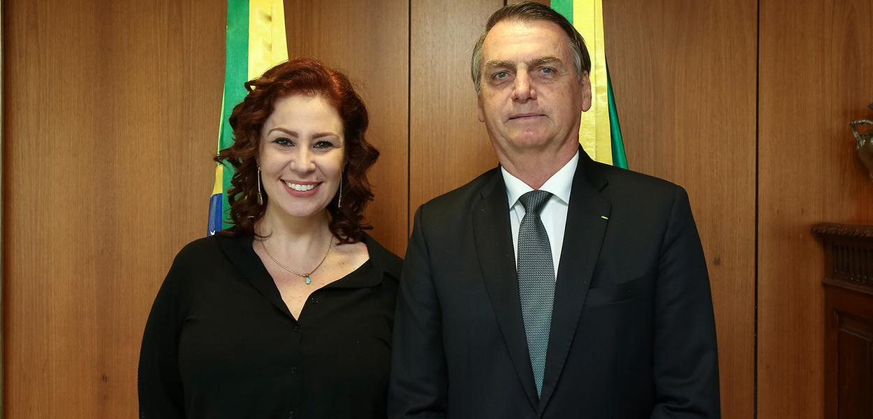 Deputada Carla Zambelli e Jair Bolsonaro