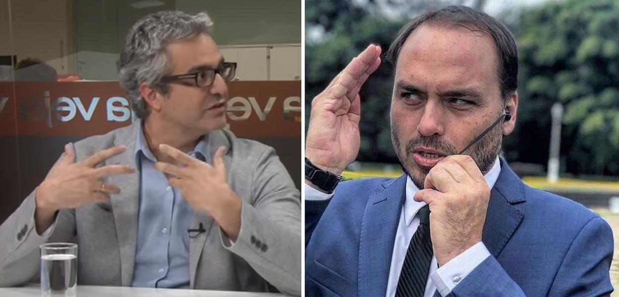 Carlos Graieb e Carlos Bolsonaro