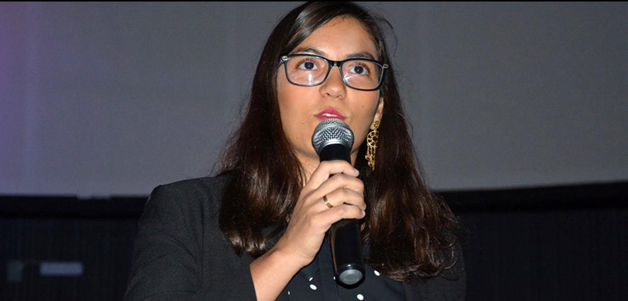 Jovem cientista Anna Luisa Beserra, premiada na ONU.