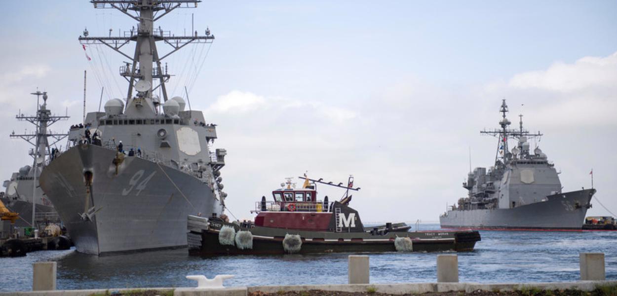 Navio USS Nitze dos Estados Unidos