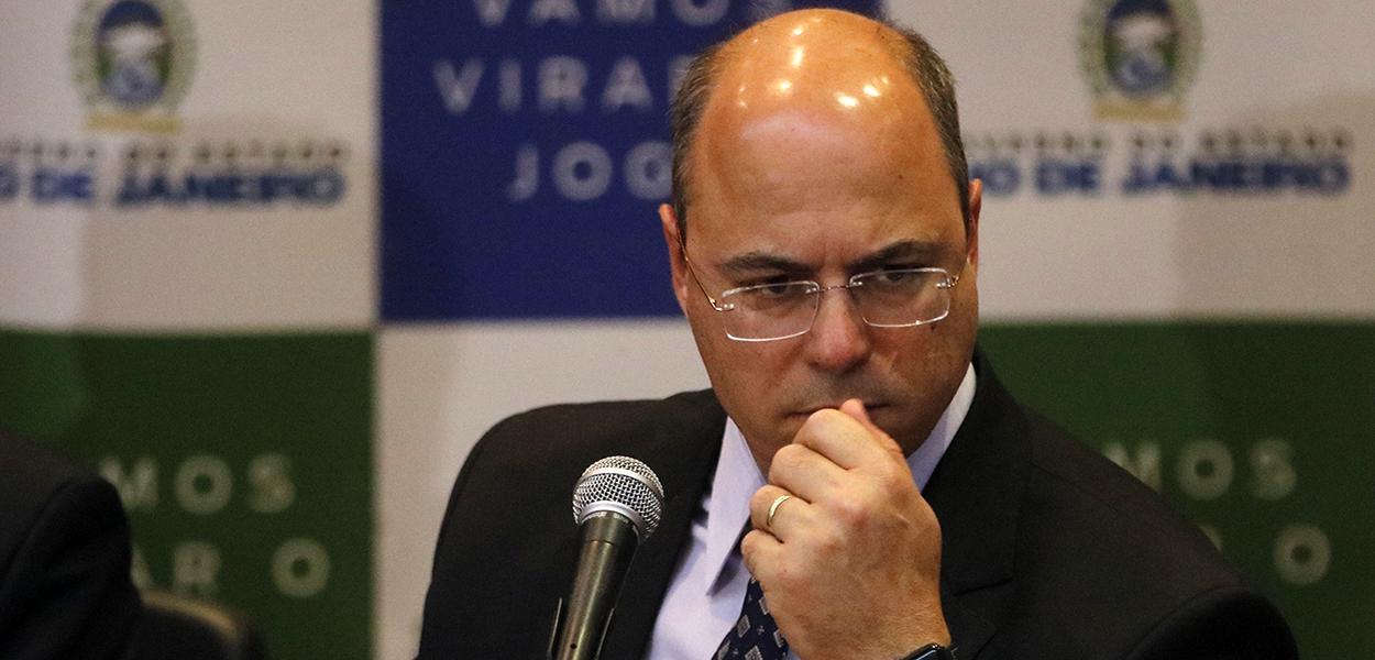 Pronunciamento do governador Wilson Witzel e secretários de Estado, no Palácio Guanabara, sobre a morte da menina Ágatha Félix durante ação da Polícia Militar no complexo de favelas do Alemão.