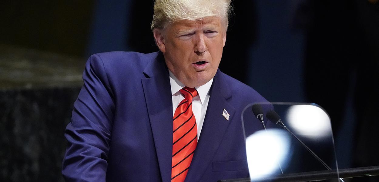 Trump fala durante Assembleia Geral da ONU em Nova York