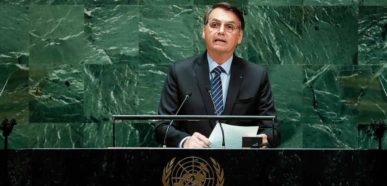 Jair Bolsonaro discursa durante a abertura do Debate Geral da 74ª Sessão da Assembleia Geral das Nações Unidas