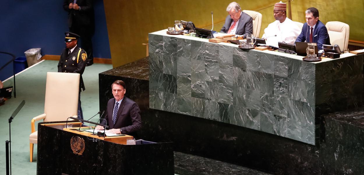 Bolsonaro discursa na Assembleia Geral da ONU