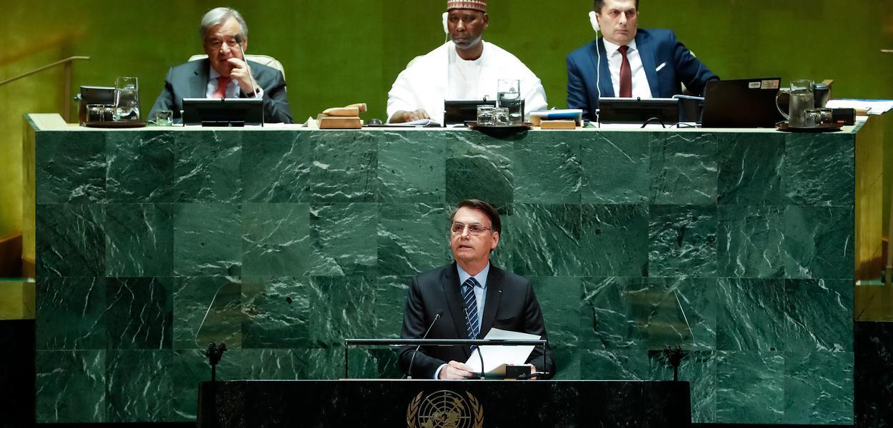 Jair Bolsonaro discursa na Assembleia Geral da ONU, em Nova York