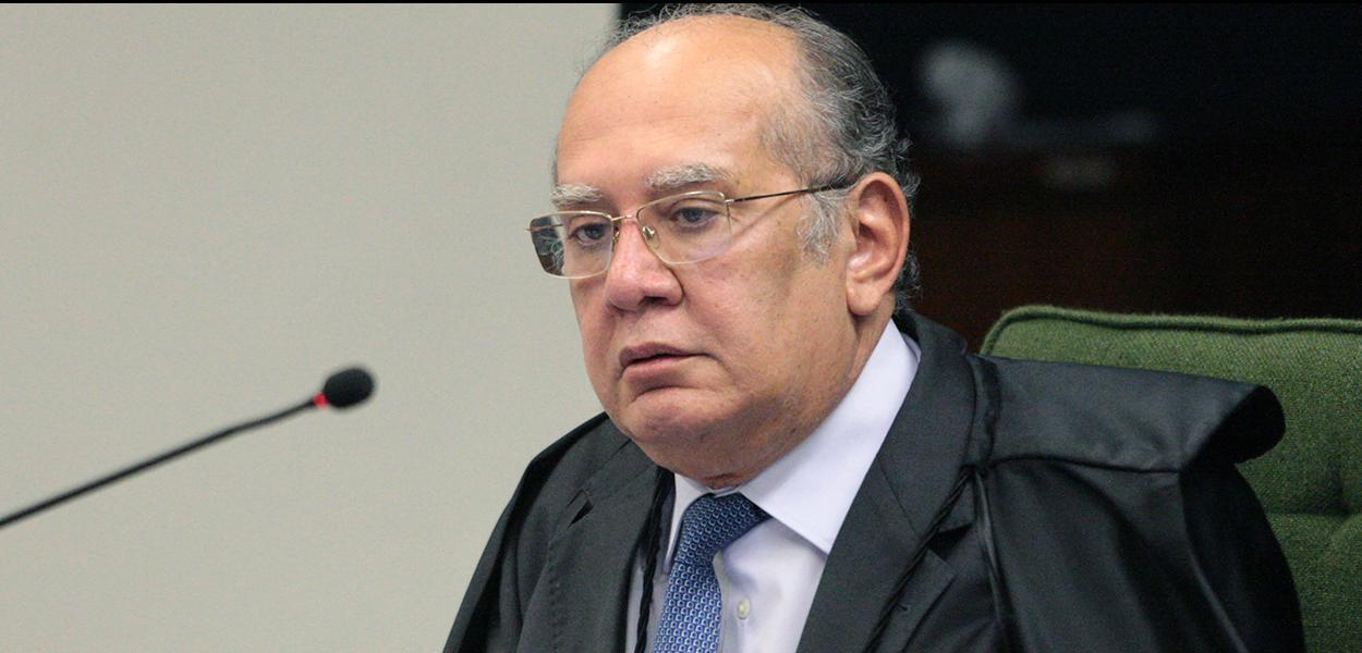Ministro Gilmar Mendes durante sessão da Segunda Turma do STF.