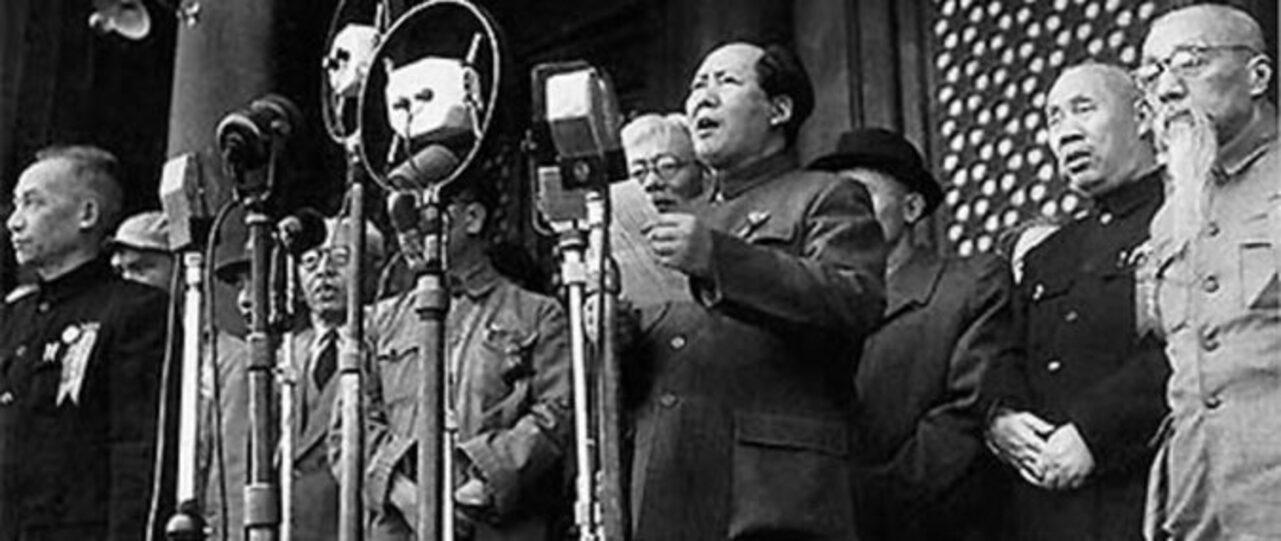 Mao Tsetung proclama a República Popular da China, 1º de Outubro de 1949
