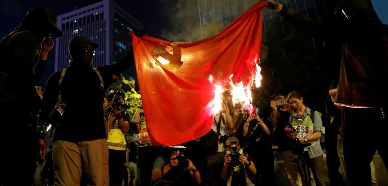 Manifestação anti-China nos EUA