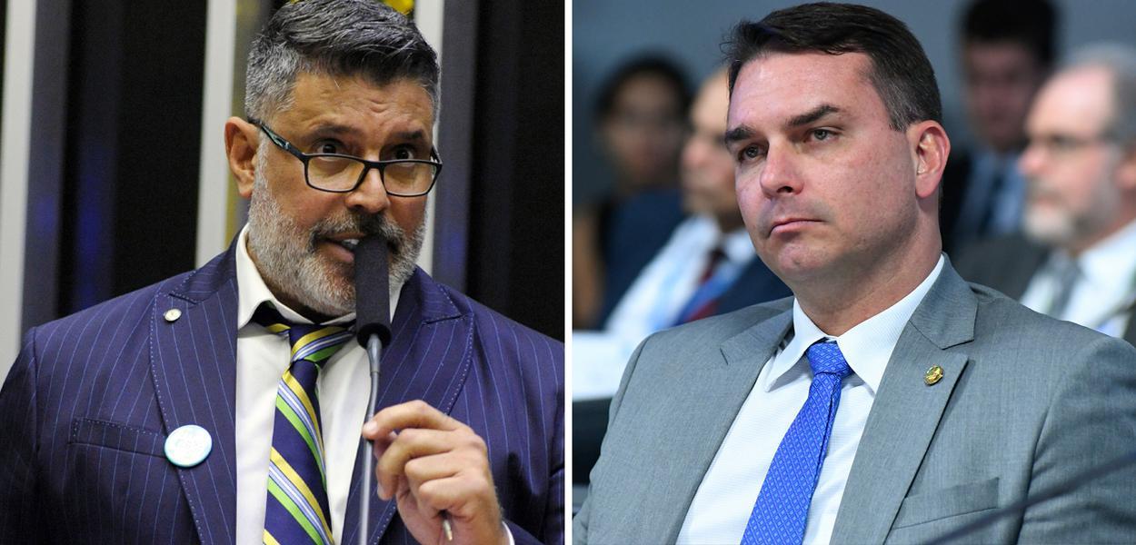 Alexandre Frota e Flávio Bolsonaro