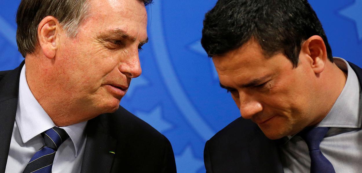 Jair Bolsonaro e ministro da Justiça, Sergio Moro