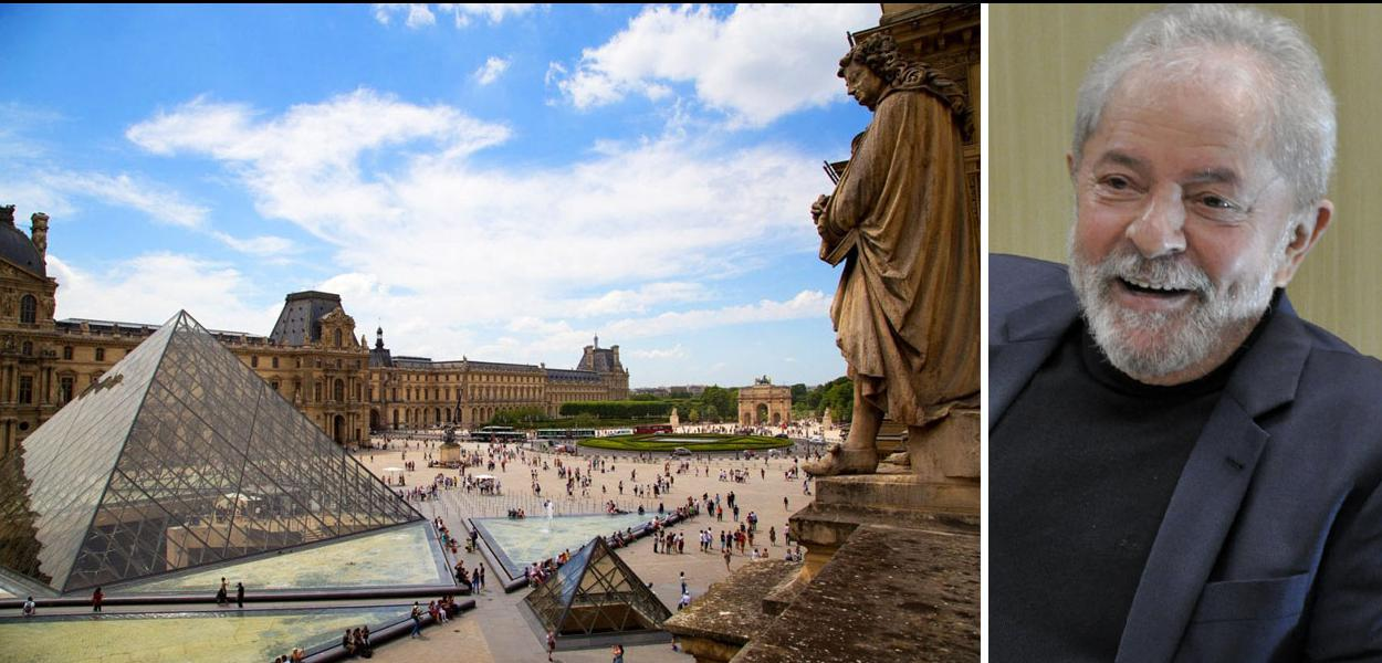 Lula e Museu do Louvre, Paris