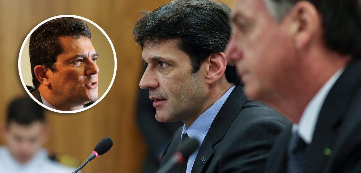 Sergio Moro, Marcelo Álvaro Antônio e Jair Bolsaonro