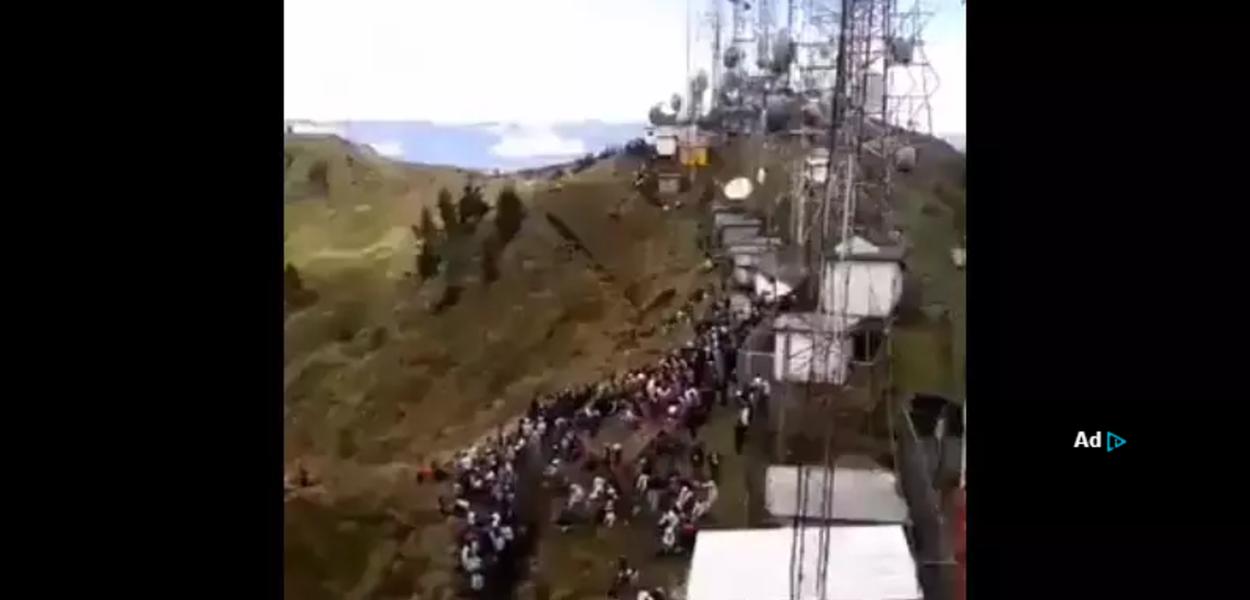 Эквадорцы выключают телевизионные антенны