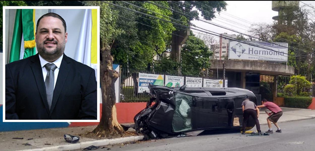 Local do acidente no qual faleceu o ex-vereador Ramon Santos
