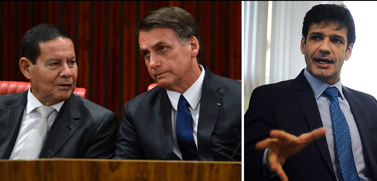 Hamilton Mourão, Jair Bolsonaro e Marcelo Álvaro Antônio