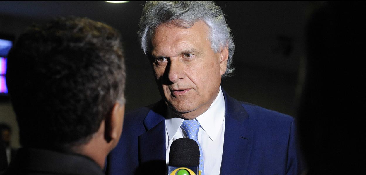 Governador de Goiás, Ronaldo Caiado concede entrevista.\r\rFoto: Roque de Sá/Agência Senado