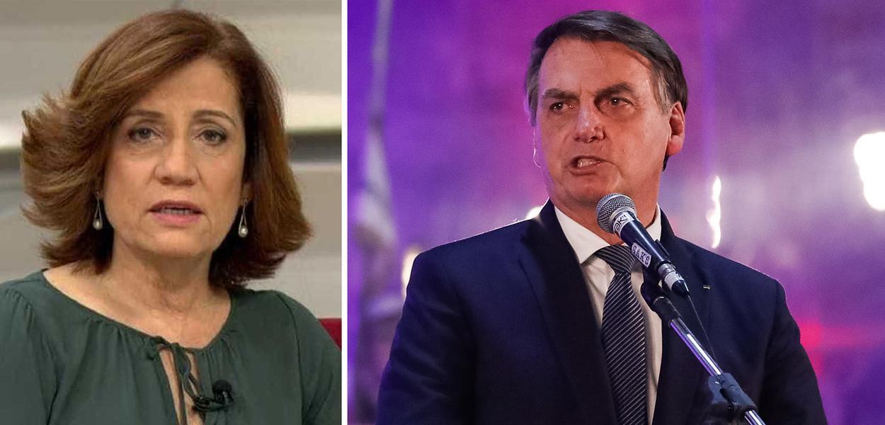 Miriam Leitão insinua burrice de Bolsonaro e denuncia assédio ...