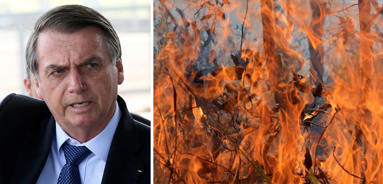 Bolsonaro e queimadas na Amazônia