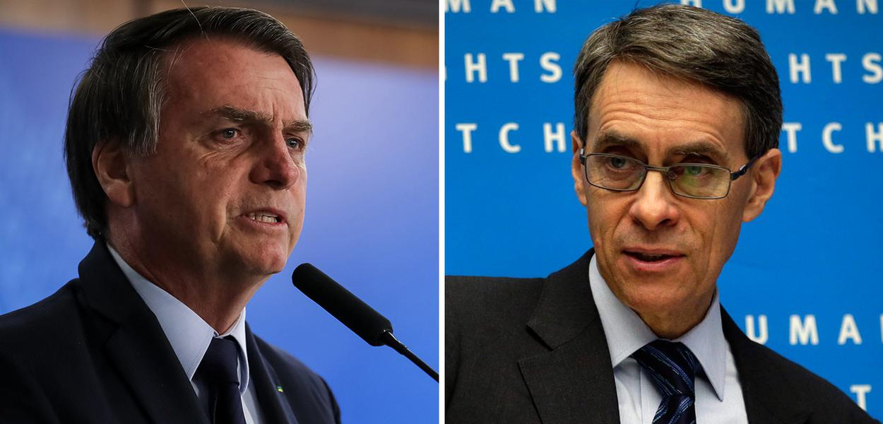 Jair Bolsonaro e Kenneth Roth