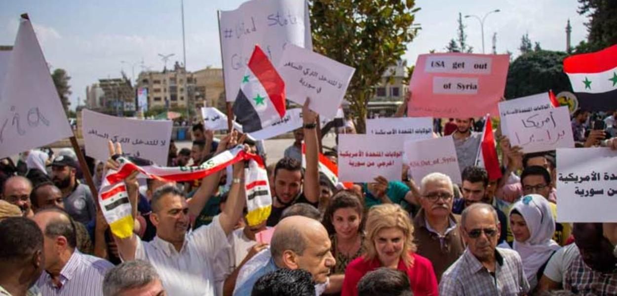 Manifestação na Síria