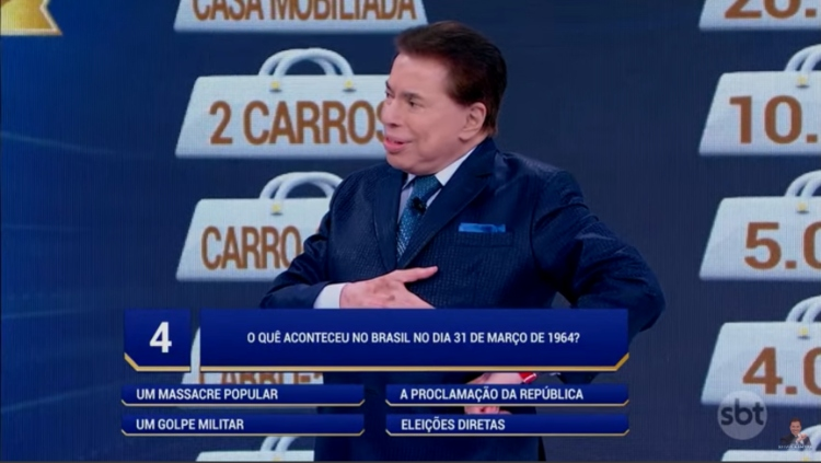 Silvio Santos, dono do SBT e apresentador